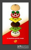 Poster Lego Burger by Junkandres