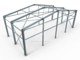 light steel structure by roof-facade