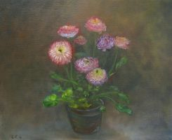Flowers from oil paint course by cocohints