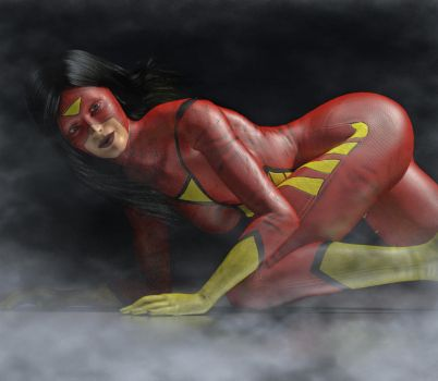 Spiderwoman 2nd skin textures for V4 by hiram67