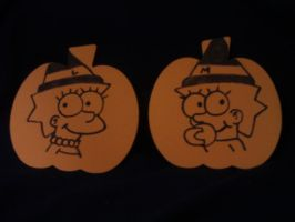 Lisa and Maggie Foam Pumpkins by MarioSimpson1