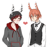 le bunny amour doodle by LittleSoyaBeanMilk