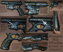 Steampunk Gun Close-Ups by Merusan