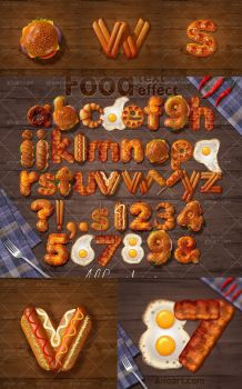 3D Style fast food text effect. by AlexandraF