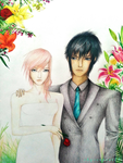 Lightning and Noctis by skyserpent14