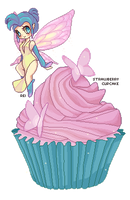 Strawberry Cupcake by BubblyBlu