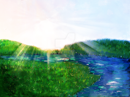 Digi Paintings #1 :The Riverside by greatyu