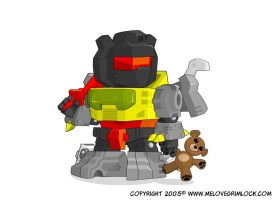 Super Deformed Grimlock with Teddy - 2005 by deadcal