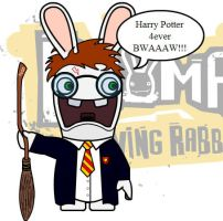 Harry Potter as raving rabbid by Agi6
