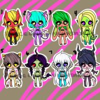 Minidopts Set 1 Auction - Closed by Porcelain-Nightmares