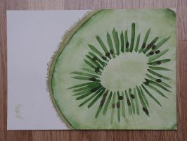 Kiwi - watercolour by KidnapTheSandyClaws