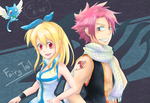 Fairy Tail - Lucy and Natsu by Foxmi