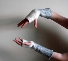 Felted Fingerless Gloves by HandiCraftKate