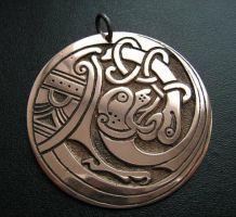 Celtic Bestiary Charm by Silver-Otter
