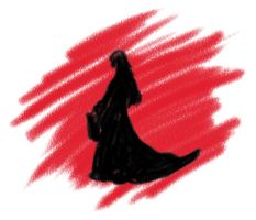 Silhouette on red by SkyWookiee