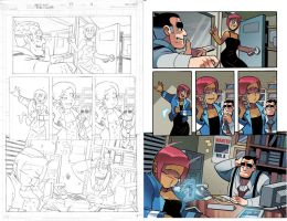 Mega Man 22 pg 4 pencils and color by RyanJampole