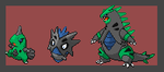 Dark Tyranitar evolution line by bambis1