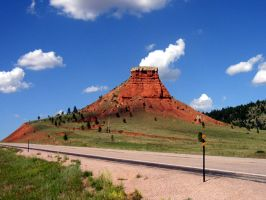 Butte In Wyoming by M922