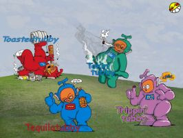The Ghetto Tubbies by gothic-hades