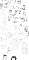 New Comic Concept Sketches by accasperberry3
