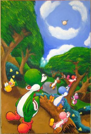pictures of yoshi from mario kart. Yoshi#39;s Island - The Beginning