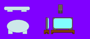 Mario and Luigi's TV Room objects by KingAsylus91