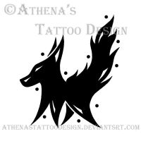 Tribal Fox by athenastattoodesign