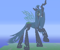 Queen Chrysalis Pixelart by SixSamMaster