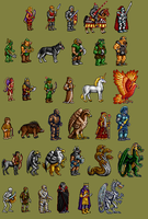 HoMM2 Sprite rips by Dominicy