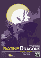 Imagine Dragons Australian Tour Assignment Poster by Biscuits-and-Jam