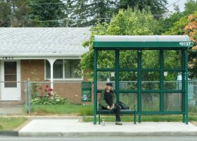 Waiting for the City Bus III by mebyrne57