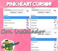 Pink Heart Cursor by Cursorsandmore