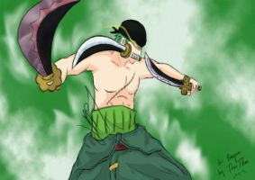 Zoro - Black Rope: Great Dragon Twister by Sugarchocolove