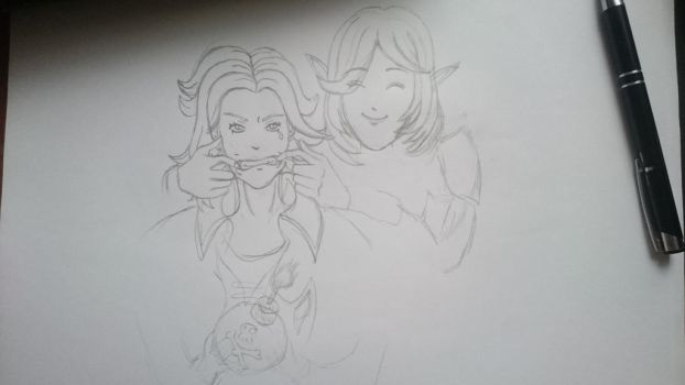 Skye and Maeve selfie! - unfinished by Howlate