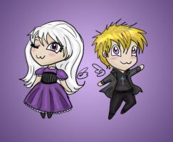 Navina and Aniven chibis by Captain-Savvy