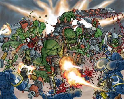 Orks - Brawl - Coloured2 by Taytonclait
