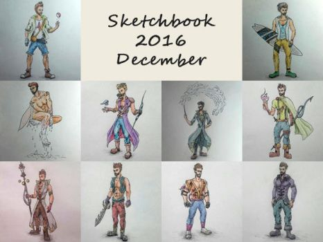 Sketchbook 2016 - December by Charmyto