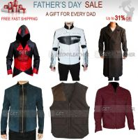 Fathers day Original Leather Jacket by Ashlyn33