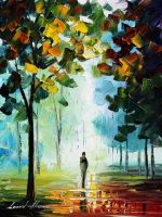 Autumn fog 4 oil painting on canvas by L.Afremov by Leonidafremov