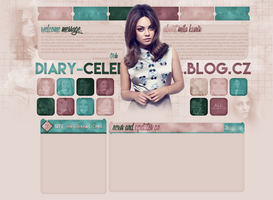 Layout for diary-celebrityall.blog.cz by FlowerskaHoneyLand