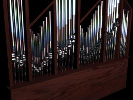shiny pipe organ pipes by SilverWyvern360