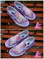 Girly Zombie Feet Shoes by mburk