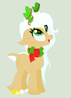 CLOSED - deer pony.. christmasy.... adopt by RlCKR0LLD