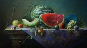 The fruits on the table by marcheba