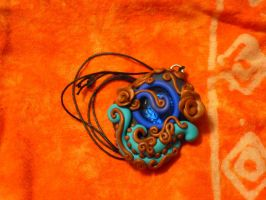 """Fimo """"Copper leviathan"""" by REDDISH-MUSE"""