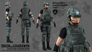 Soldiers Character Prototype by Poser96