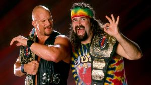 Steve Austin and Dude Love by TheElectrifyingOneHD