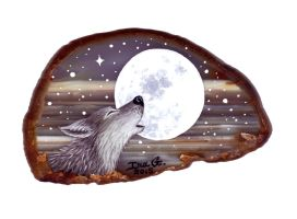 Wolf on Agate by Nevuela