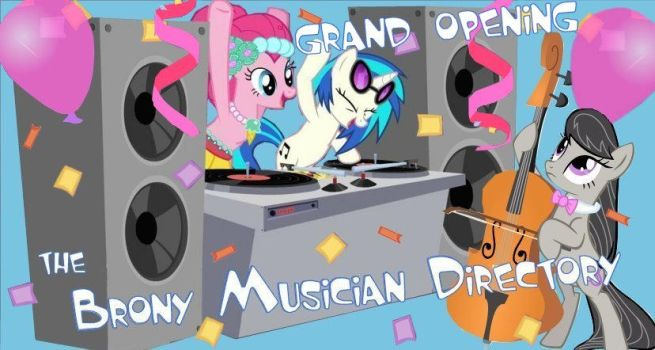 Brony Musican Directory Banner Art by TheFreewave