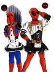 Maid Deadpool and Spiderman by SylvieZ